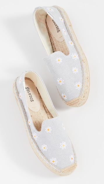 Soludos Daisies Embroidered Espadrilles