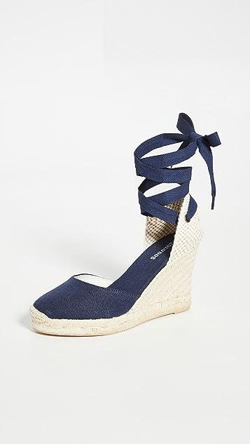 Soludos 经典编织底坡跟鞋