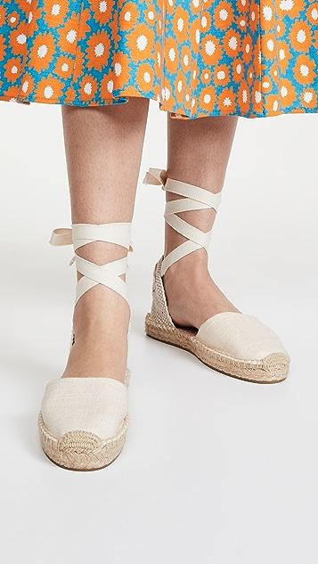 Soludos Lauren 麻编坡跟鞋