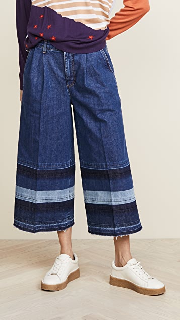 Sonia Rykiel Cropped Jeans with Striped Effect