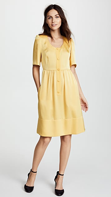 Sonia Rykiel Satin Backed Crepe Dress
