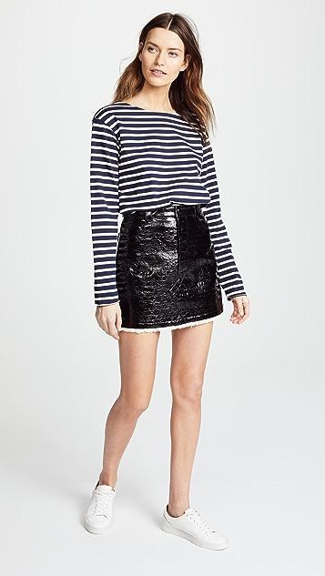 Sonia Rykiel Lacquered Miniskirt