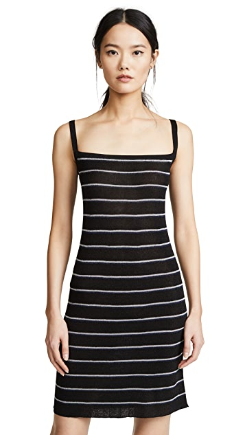 Sonia Rykiel Striped Ribbed Mini Dress