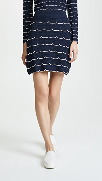Sonia Rykiel Striped Miniskirt