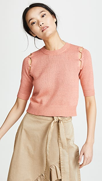 Sonia Rykiel Cocoon Half Sleeve Sweater