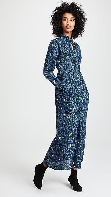 Sonia Rykiel Floral Mock Neck Dress