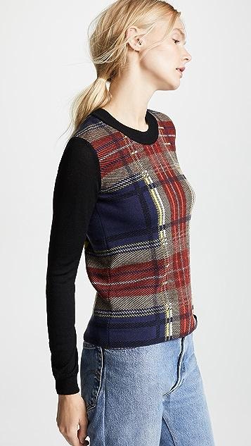 Sonia Rykiel Plaid Sweater