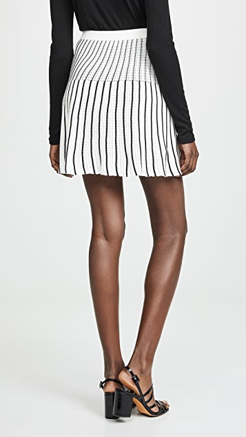 Sonia Rykiel Striped Knit Miniskirt