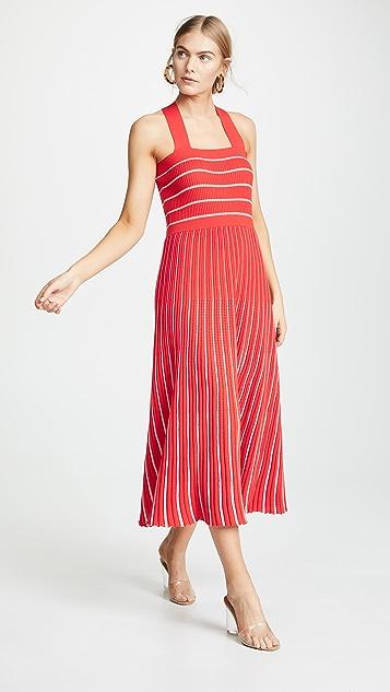 Sonia Rykiel Трикотажное платье с американской проймой