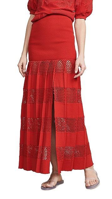 Sonia Rykiel Текстурированная юбка в полоску