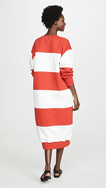 Sonia Rykiel Платье-толстовка в полоску с открытыми плечами