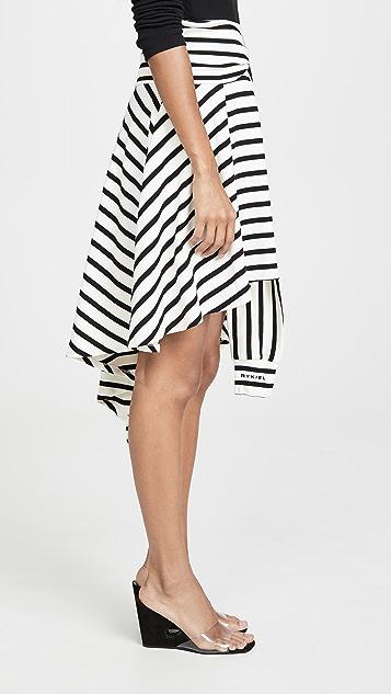 Sonia Rykiel Асимметричная юбка из джерси в полоску