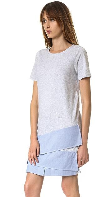 Sonia by Sonia Rykiel Платье в полоску из ткани в рубчик