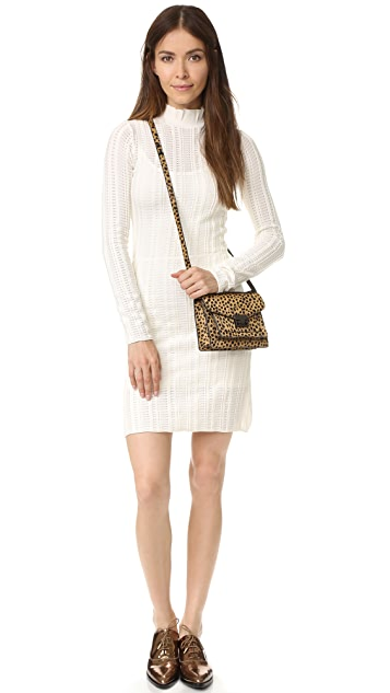 Sonia by Sonia Rykiel Ladder Stitch Turtleneck Dress