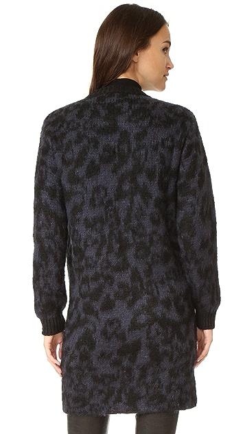 Sonia by Sonia Rykiel Mohair Leopard Jacquard Coat
