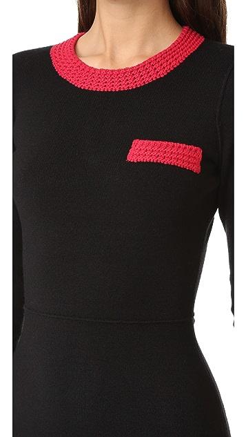 Sonia by Sonia Rykiel Knit Pocket Sweater Dress
