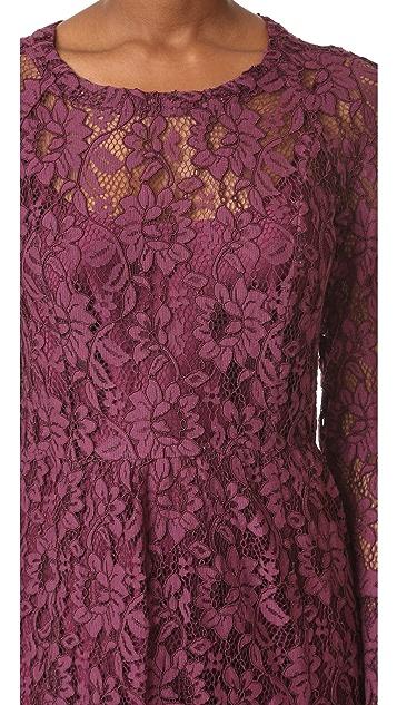 Sonia by Sonia Rykiel Lace Midi Dress
