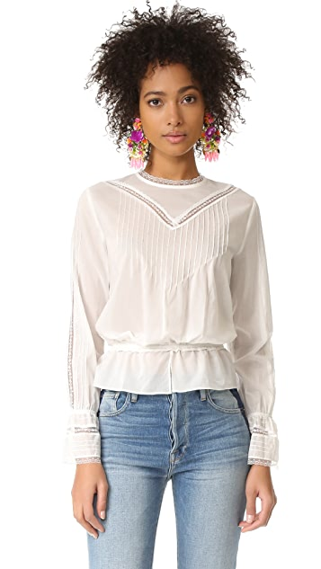 Sonia by Sonia Rykiel Lace Paneled Blouse