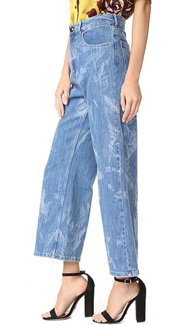 Sonia by Sonia Rykiel Wide Leg Printed Jeans