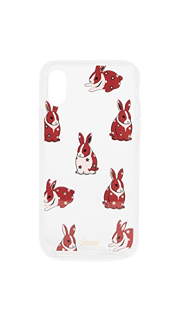 Sonix Clear Chubby Bunny iPhone X Case