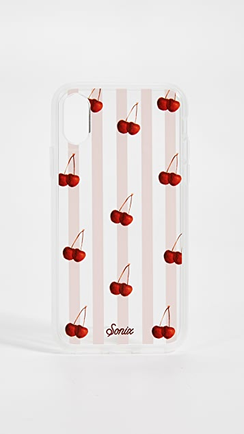 Sonix Cherry Stripe iPhone XS/X Case