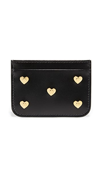 Sophie Hulme Heart Stud Card Case