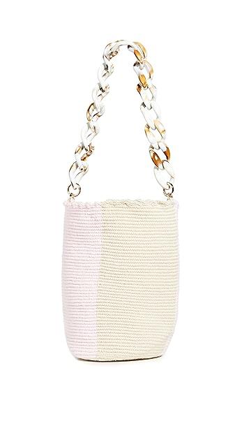 Soraya Hennessy 淡彩色撞色中号水桶包
