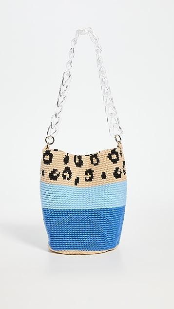 Soraya Hennessy 蓝色豹纹中号包