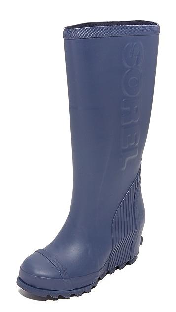 Sorel Joan Tall Rain Wedge Boots ...