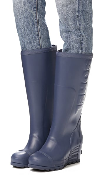 Sorel Joan Tall Rain Wedge Boots