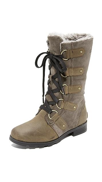Sorel Emelie Lace Boots - Major/Black