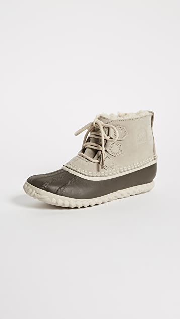 Sorel Out 'N About Shearling Lux Booties