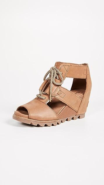 Sorel Joanie Lace Sandals - Camel Brown