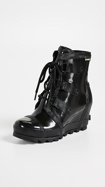 Sorel Joan Rain Wedge Gloss Boots
