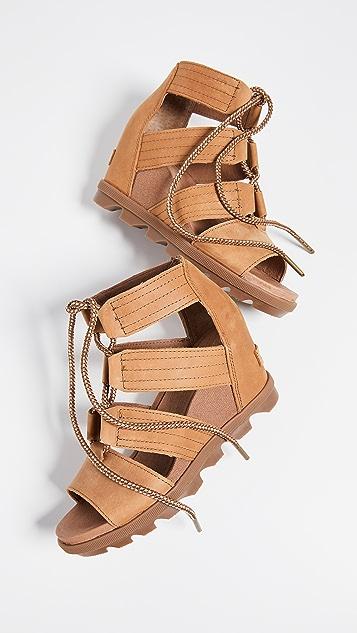 Sorel Joanie II 蕾丝坡跟凉鞋
