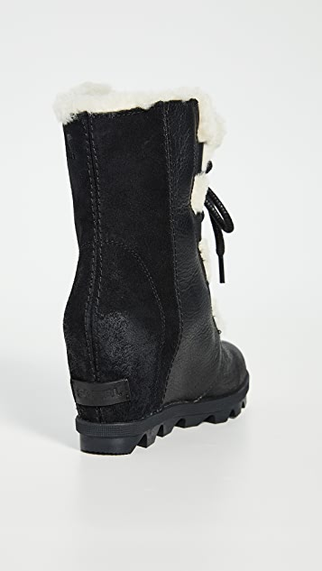 Sorel Joan Wedge Shearling Boots
