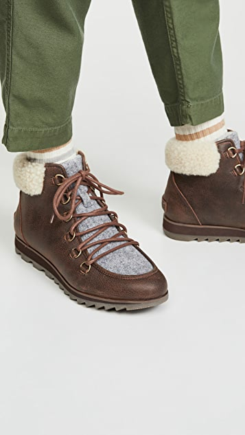 Sorel Harlow Cozy Lace Up Booties