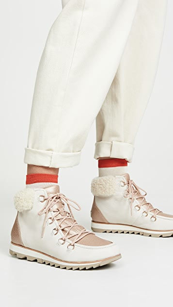 Sorel Harlow Lace Up Luxe Booties