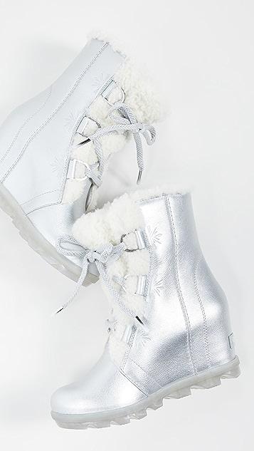 Sorel x Disney Joan of Arctic Wedge II 连毛羊皮靴子