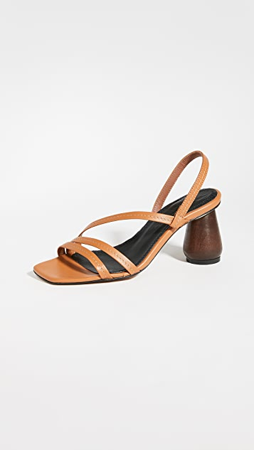 Souliers Martinez 80mm Can Maroig Sandals