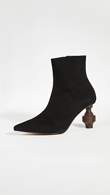 Souliers Martinez Viernes Suede 80 Booties