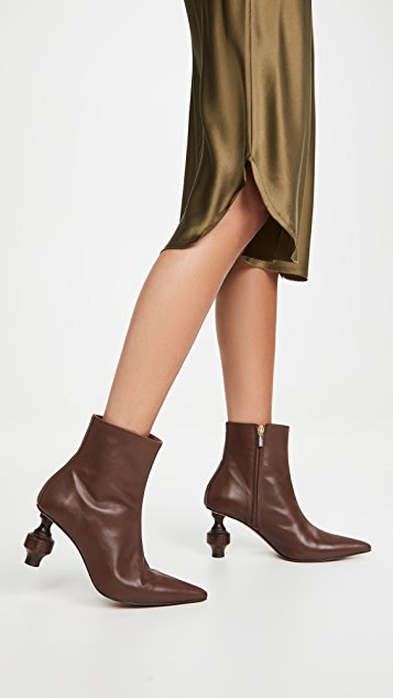 Souliers Martinez Viernes Leather 80 Booties