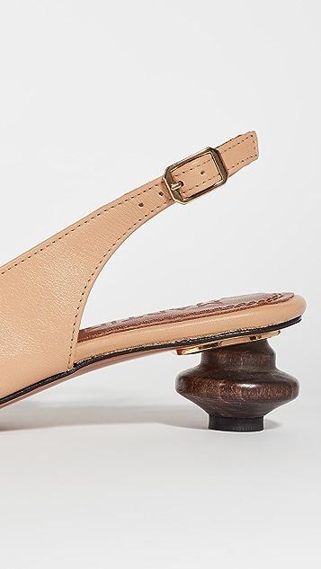 Souliers Martinez 40mm Cubelles 皮高跟鞋