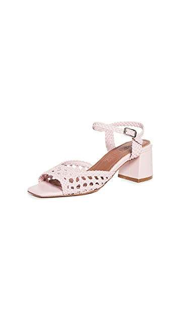 Souliers Martinez 50mm Ischia Woven Sandals