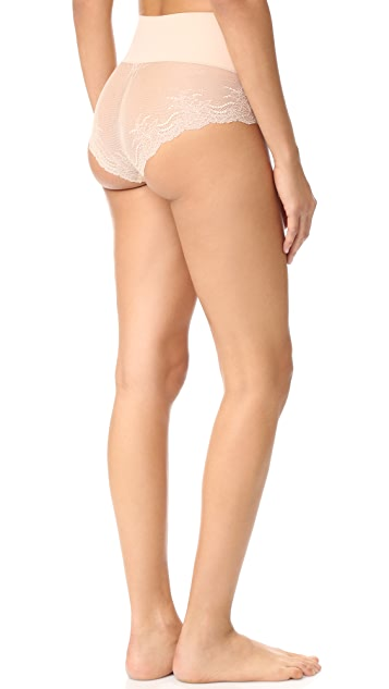 SPANX UndieTectable Lace High Hipster Briefs