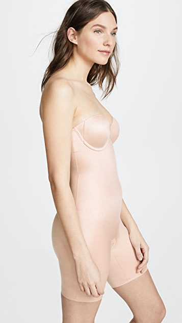 SPANX Suit Your Fancy Strapless Mid Thigh Bodysuit