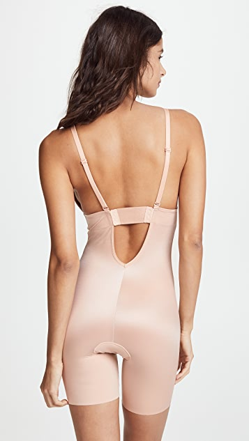 spanx suit your fancy plunge low back mid thigh bodysuit shopbop