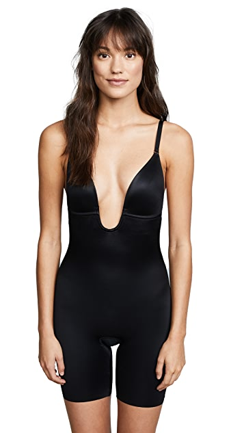 SPANX Suit Your Fancy Plunge Back Mid Thigh Bodysuit