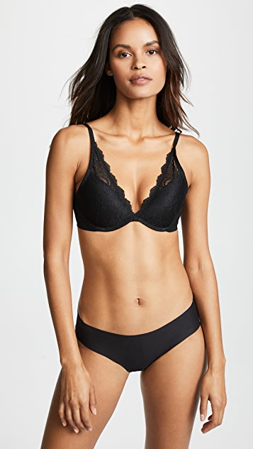 Spanx Undie Tectable Push Up Plunge Bra