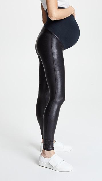 SPANX Mama Faux Leather Leggings